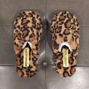 Michael Kors Chetah slippers